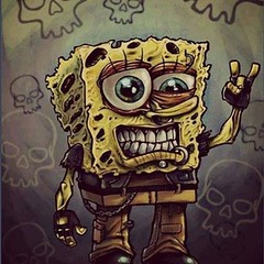 Spongebob Cute Emo Rocker Rocking Metal Zombie Lov Flickr