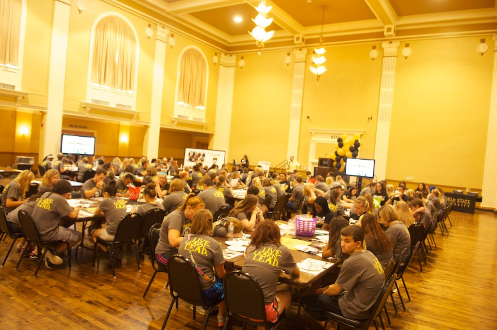 Student event in Memorial Union Ballroom