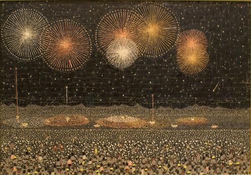 「長岡の花火」貼絵 / 1950(昭和25)年