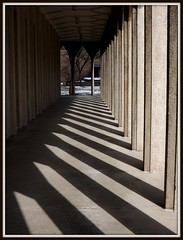 Wayne State University: Shadows and Pointed Arches, Education Building--Detroit MI