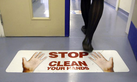 Hand washing sign on floor - google