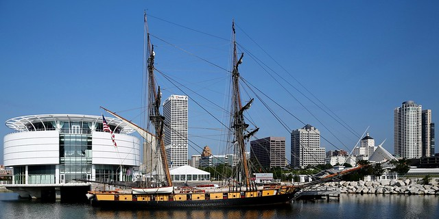US Brig Niagara docked at Milwaukee
