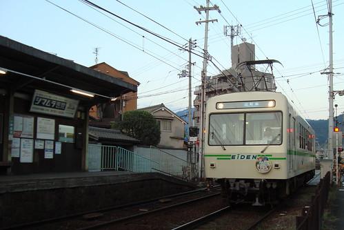 2013/09 叡山電車 きんいろモザイク ヘッドマーク車両 #08
