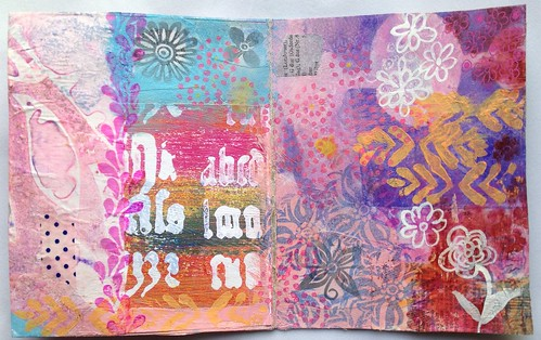 Small Art Journal Series-Inside cover of journal before binding