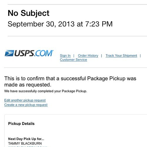 273:365 Hey #usps - somehow I don't think you had a successful package pickup considering they're still sitting on my porch at 7:30pm.