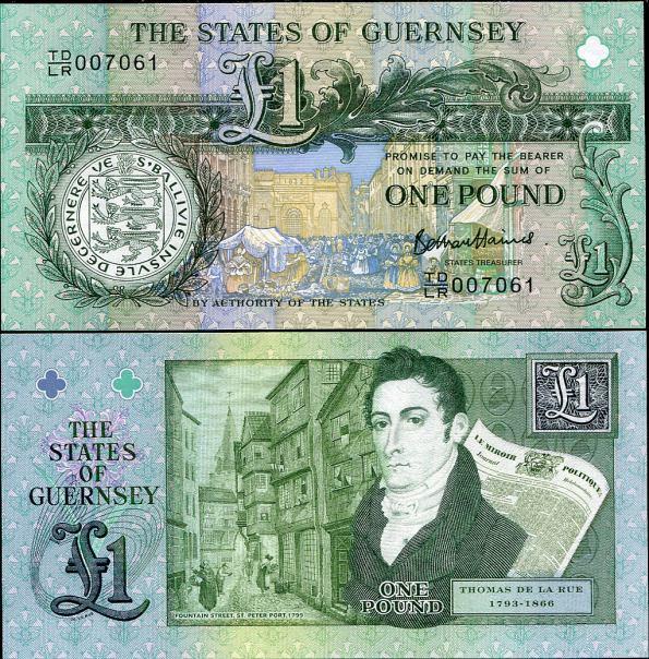 1 Libra Guernsey 2013, Thomas de la Rue