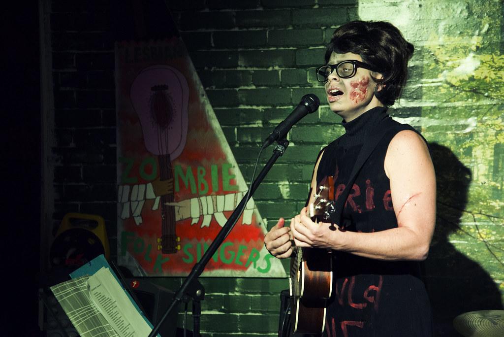 A zombie folk singer