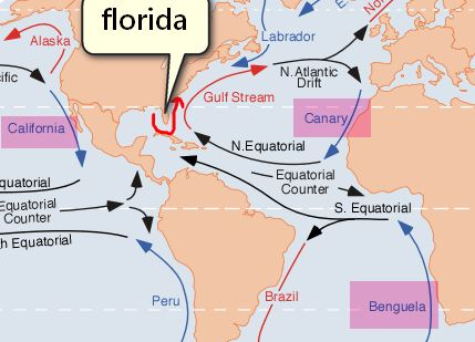 map-ocean-currents for Geography Answerkey CAPF 2013