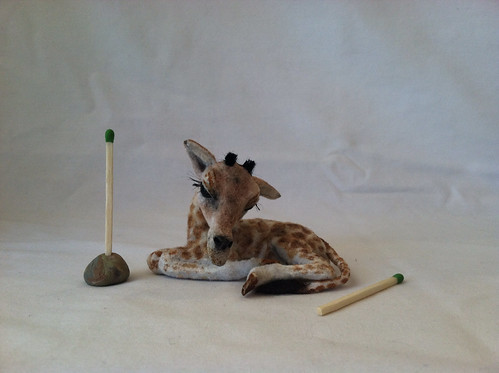 1:12 Baby Giraffe by woolytales.com