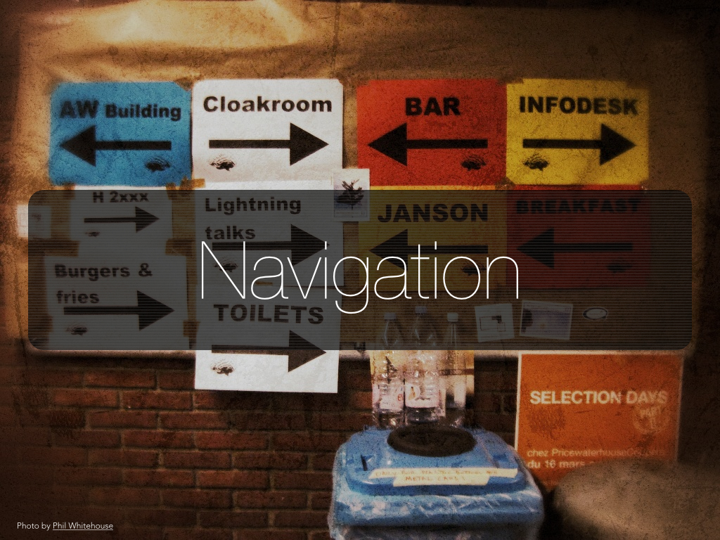 Navigationのスライド画像