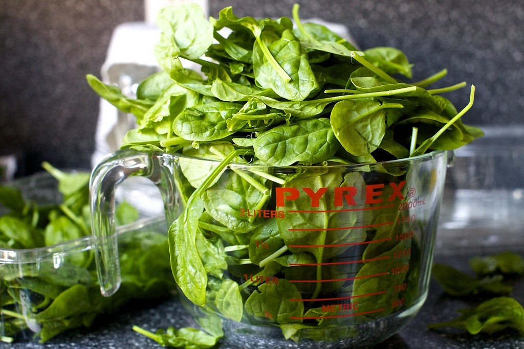 baby or fresh spinach will work