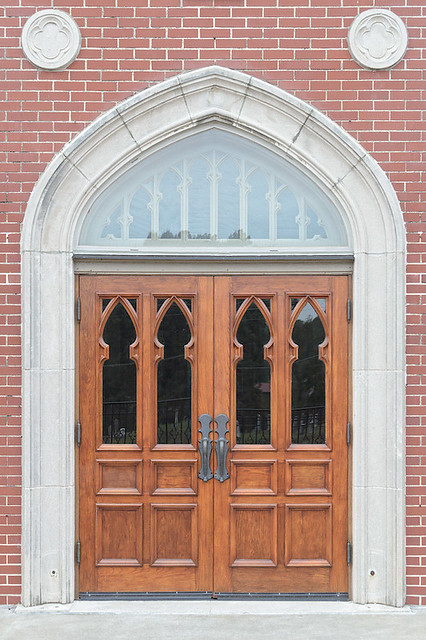 Saint John the Evangelist Roman Catholic Church, in Paducah, Kentucky, USA - front door