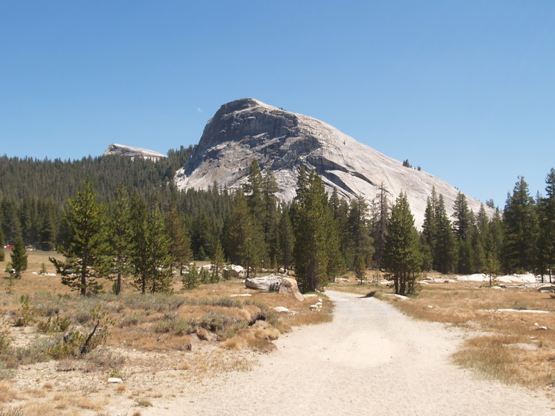 Lembert Dome from the PCT (and Yosemite National Park Road)