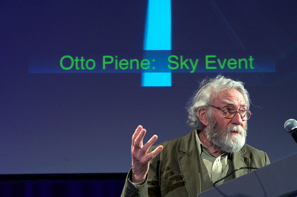 Professor Emeritus Otto Piene, Director of the Center for Advanced Visual Studies at MIT from 1974 to 1993, and Creator of SKY Event