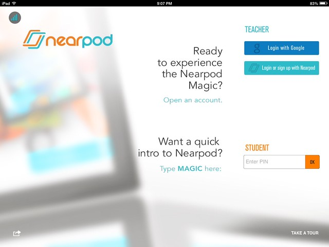 Splash screen in Nearpod