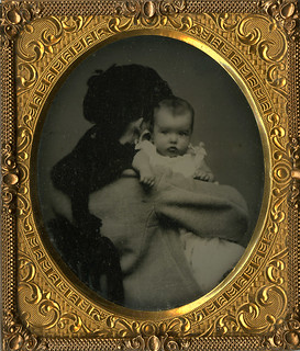Hidden Mother with Back to Camera - Tintype