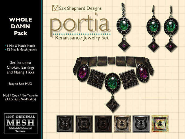 Portia Renaissance Jewelry Set (Whole Damn Pack)