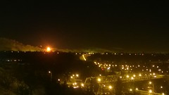 From another angle, though, the refinery flare looks angry #yeg