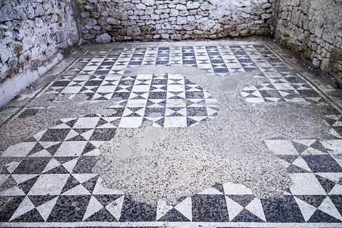 [4106] Vulci, Casa Romana, Mosaici