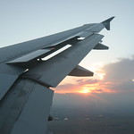 Sunset under the wing