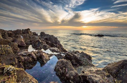 california blue sunset sky orange seascape water cali clouds canon landscape photography la losangeles rocks anemone 5d tidepool cloudporn seaurchin tiltshift 17mm
