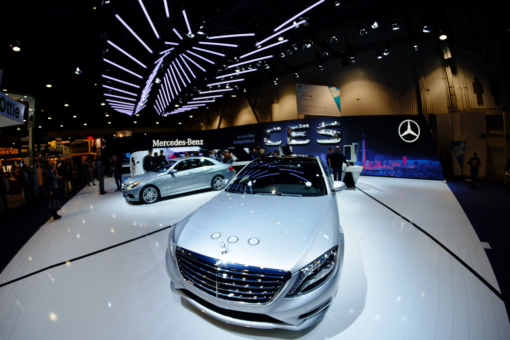 Beautiful Mercedes booth