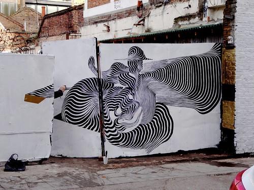 Wall art around Brick Lane width=