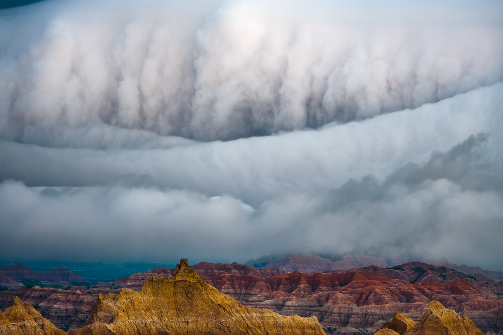 Badlands Fog Storm