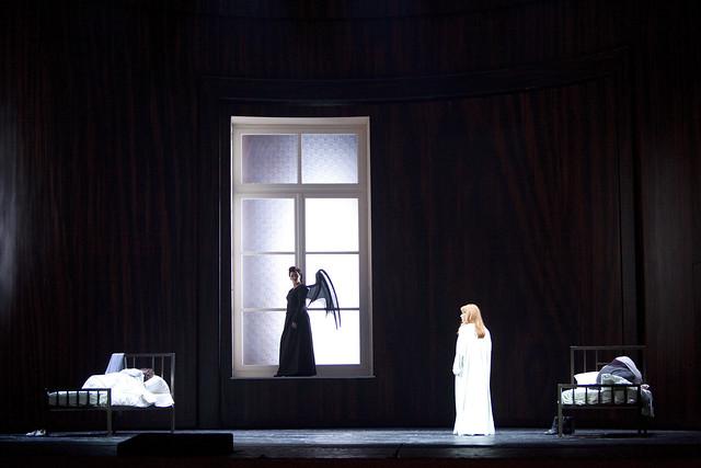 Elena Pankratova, Michaela Schuster, Emily Magee and Falk Struckmann in Die Frau ohne Schatten, La Scala, Milan, 2013 © Monika Rittershaus/Teatro alla Scala
