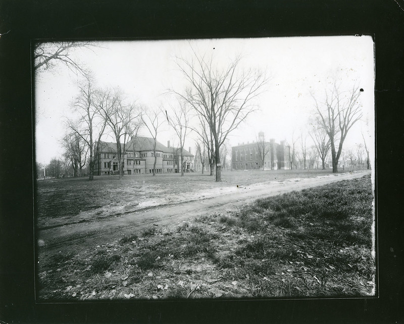 South Side of Alumni Hall Under Construction circa 1890