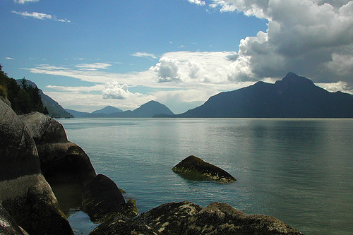 Howe Sound, Sea to Sky Highway 99, British Columbia, Canada
