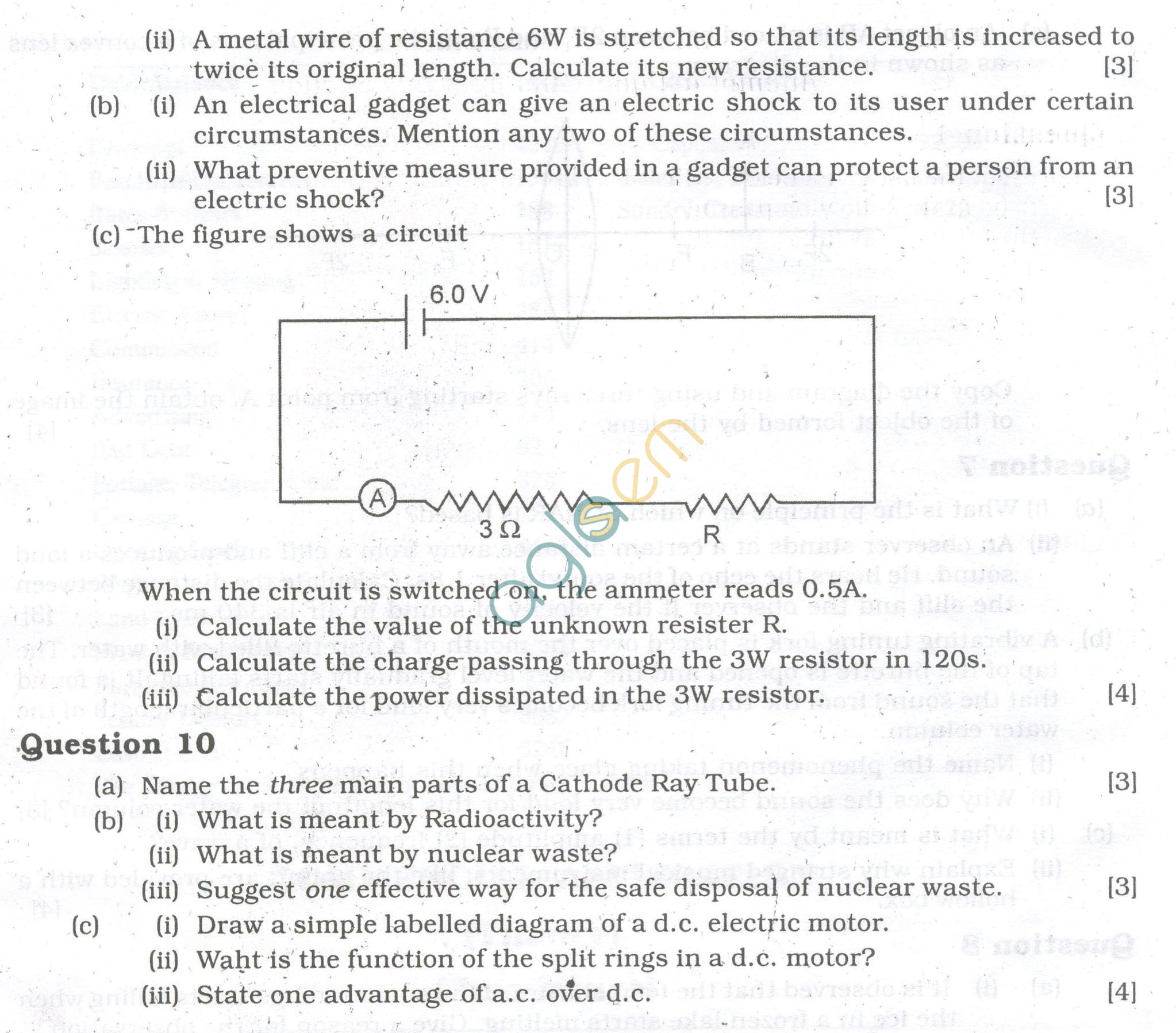 ICSE Question Papers 2013 for Class 10 - Physics