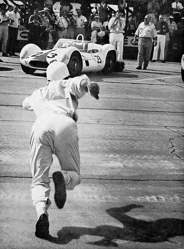 Le Mans style start at Sebring 1960. by Nigel Smuckatelli