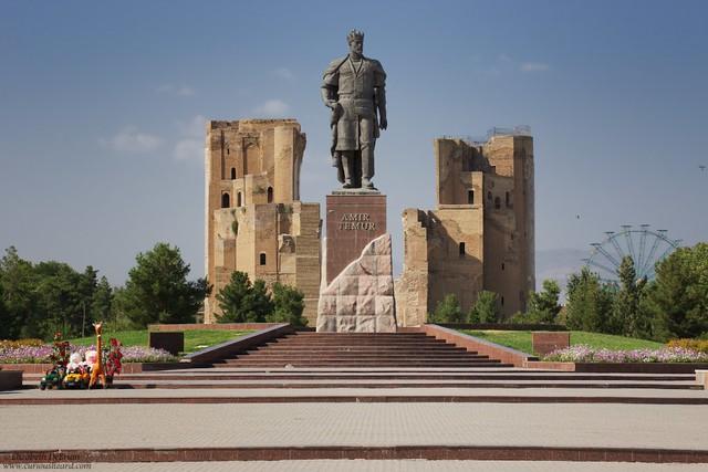 Timur and his palace. Shakhrisabz, Uzbekistan.