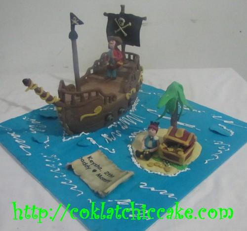 Kue ulang tahun dengan tema Cake Bajak Laut Kapten Hook model ini ...