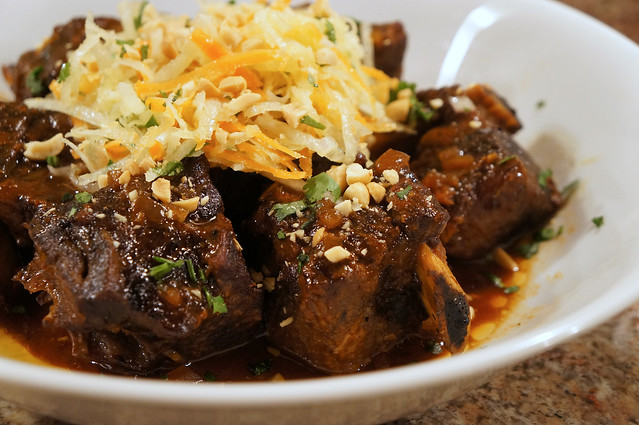 Asian-Style Short Ribs with Daikon Carrot Salad
