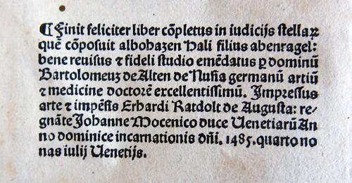 Liber in iudiciis astrorum colophon