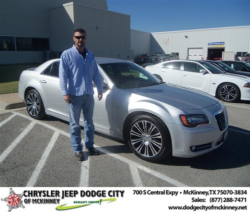 Happy Anniversary to Brandon S Dunaway on your 2012 #Chrysler #300 from Crosby Bobby and everyone at Dodge City of McKinney! #Anniversary by Dodge City McKinney Texas