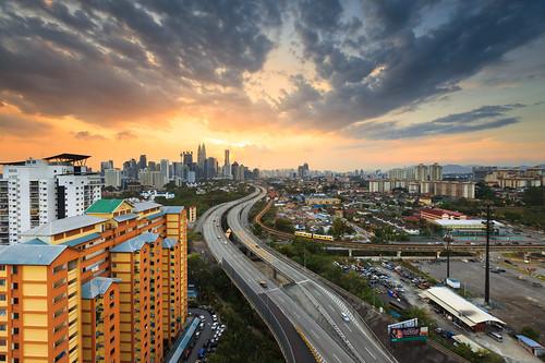 sunset cityscape malaysia rays leadingline beautifulasia
