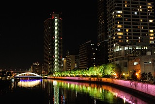 A night scene of Dojima river.