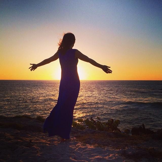 Holding sunset