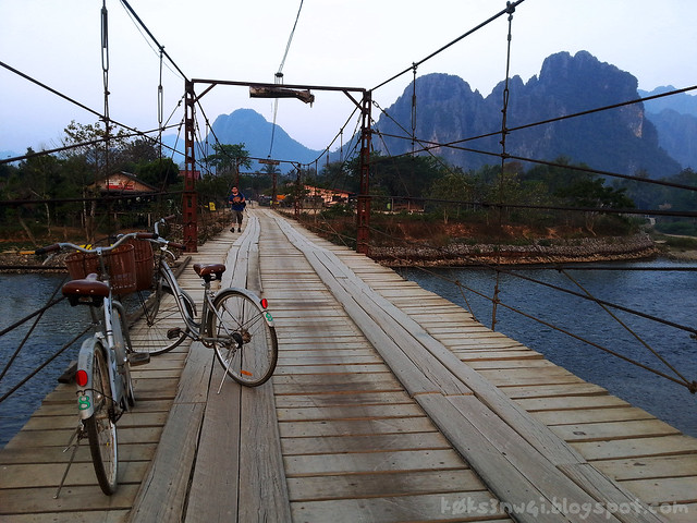 Bike Trip Bridge Over Nam Song