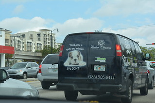 Miami dry cleaner van advertisement