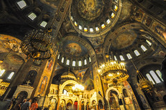 Domes and ceiling frescoes - Alexander Nevsky Cathedral
