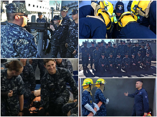 United States Naval Sea Cadets Corps (USNSCC) Challenger Division aboard USS Pearl Harbor