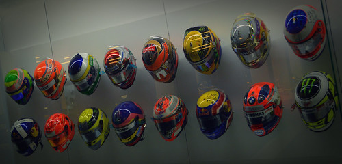 Helmets Collected from Other Formula One Drivers