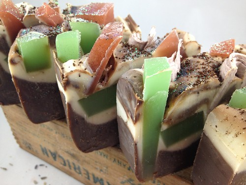 Mint Chocolate Chip soap by The Daily Scrub