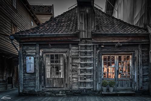 Bryggen by night