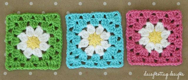 Daisy Granny Square Crochet Pattern Daisy Cottage Designs