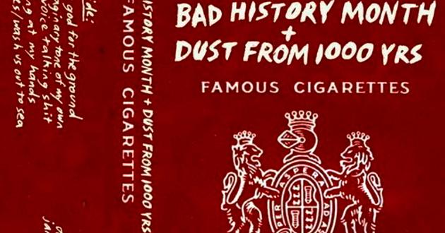 Bad History Month/Dust From 1,000 Yrs split cassette (detail)